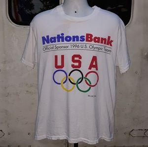 Vintage 1995 Olympic single stitch T size large